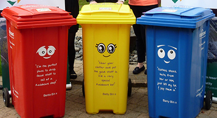 Where's It Bin collection for Rainbows charity shops.
